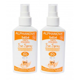 Pack 2 Protectores solares Bebé SPF 50 Spray 125ml