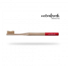 Cepillo dientes adulto bambú Rojo