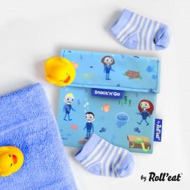 Porta Alimentos Snack'n'Go Kids Ocean Azul