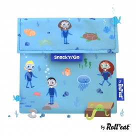 Porta  Snack'n'Go Kids Ocean Azul