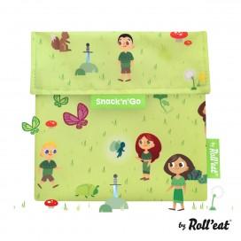 Porta Snack'n'Go Kids Forest Verde