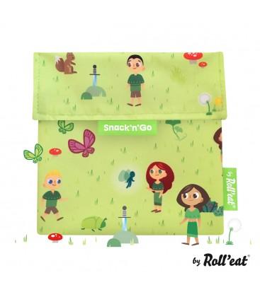 Porta Alimentos Snack'n'Go Kids Forest Verde