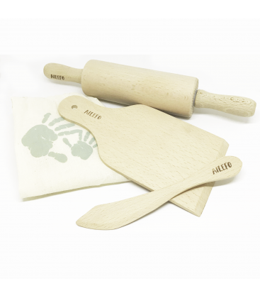 Set 3 herramientas de madera Plastilina Orgánica