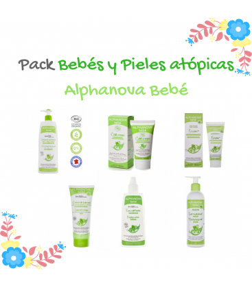 Pack Completo Bebé y Piel atópica Alphanova Bebé