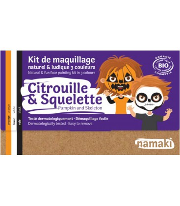 Kit de Maquillaje Infantil  Bio calabaza & esqueleto