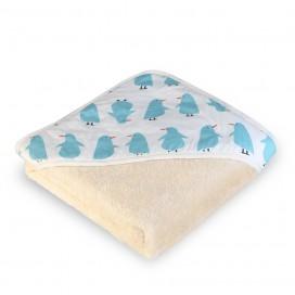Capa baño algodón orgánico Pingüinos