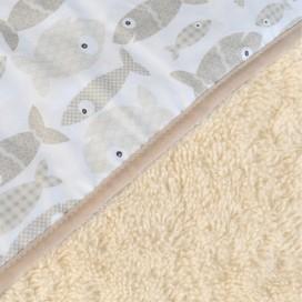 Capa baño algodón orgánico Peces