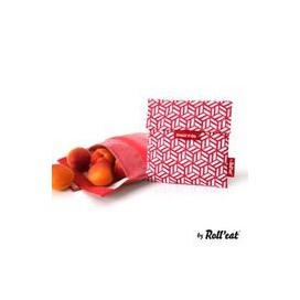 Porta Alimentos Snack'n'Go Tiles Rojo