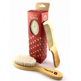 Set TESTA: cepillo y peine de madera