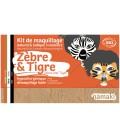 Kit de Maquillaje Infantil  Bio Cebra & Tigre