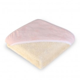 Capa baño algodón wafflen estrellas rosa