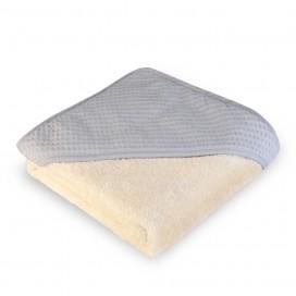 Capa baño algodón wafflen gris