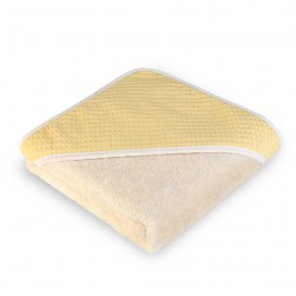 Capa baño algodón wafflen mostaza