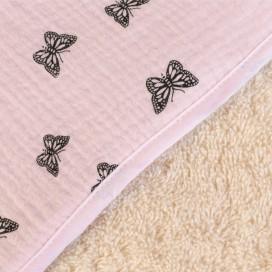 Capa baño algodón muselina mariposas