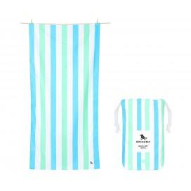 Toalla Playa Microfibra Summer Azul&Verde L