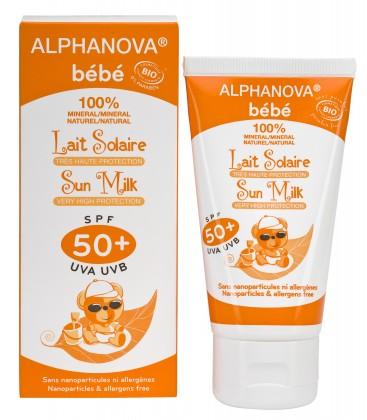 Protector solar Bebé SPF 50+, 50GR. ALPHANOVA SUN