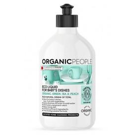 Líquido ecológico limpiavajillas Té verde y melocotón 500ml ORGANIC PEOPLE