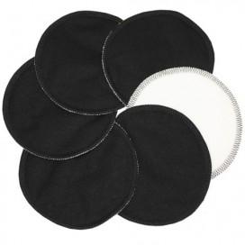 Discos de lactancia en negro Algodón Orgánico